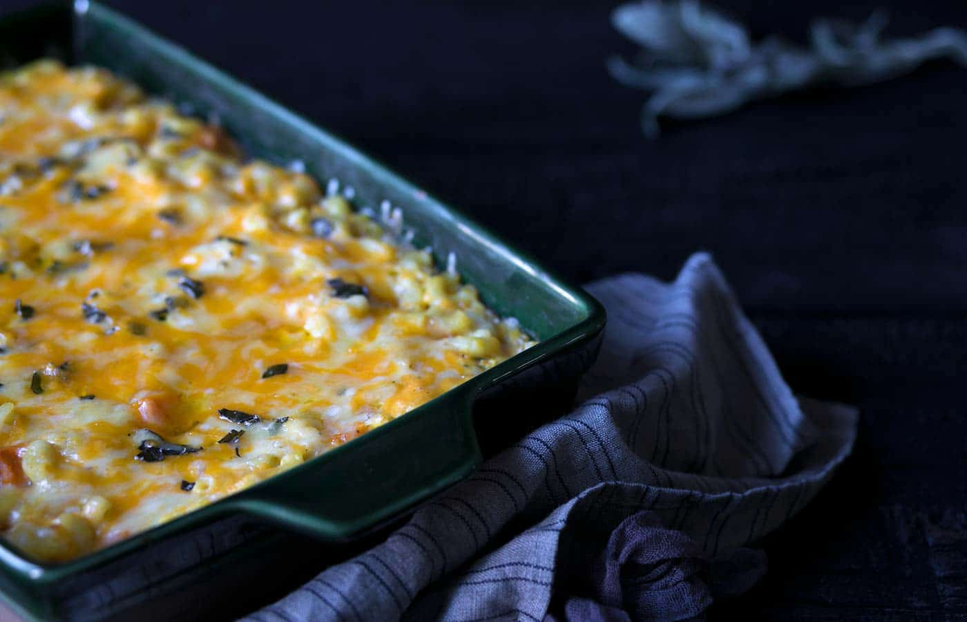 This Baked Butternut Squash Macaroni and Cheese is perfect for holiday parties and any cozy winter meal! Get the recipe from Savory Simple.
