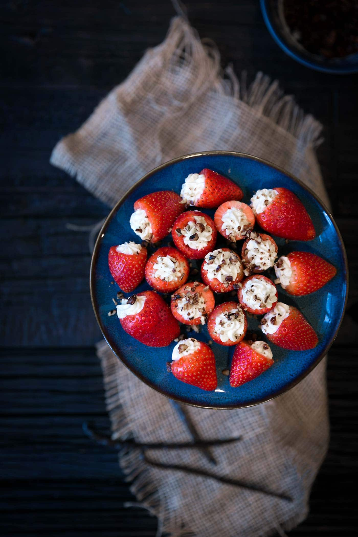 Vanilla Mascarpone Stuffed Strawberries are an easy-to-prepare, light dessert that your guests will adore! Get the recipe from Savory Simple.