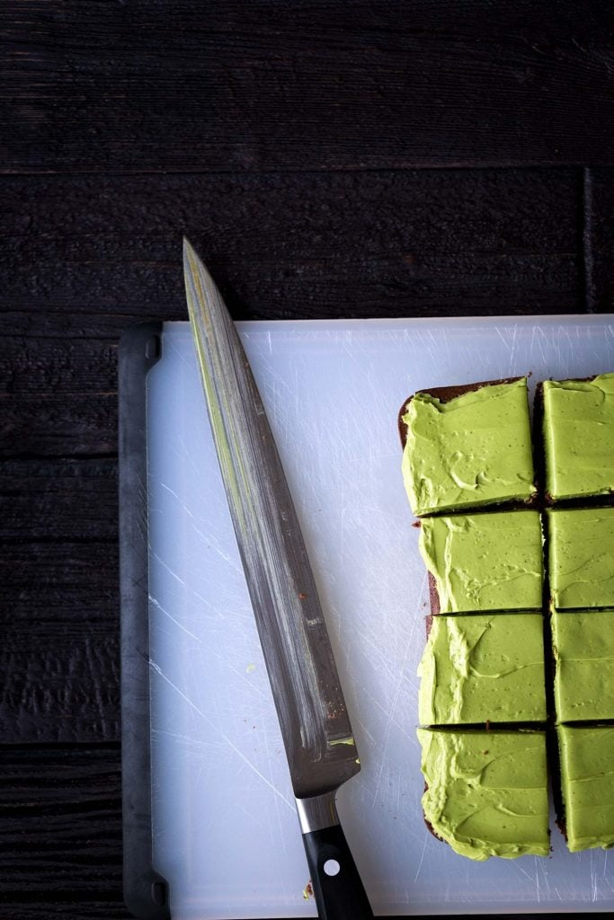 An easy recipe for Bittersweet Brownies with Matcha Frosting + a discussion on the stigma associated with bipolar disorder.