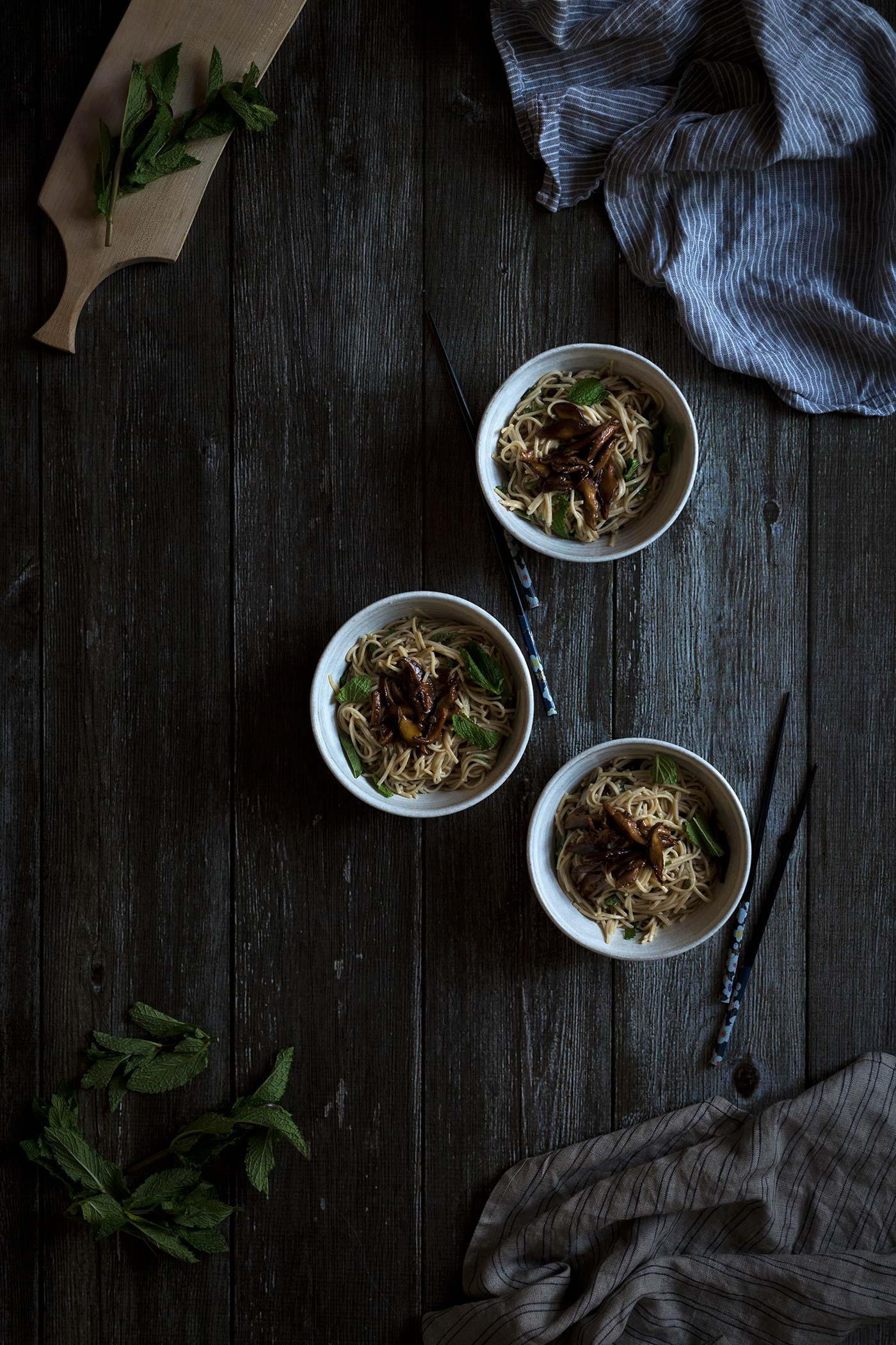 Shiitake Sesame Mint Soba Noodles are a quick, flavorful dinner recipe. Get the easy-to-follow recipe from Savory Simple.