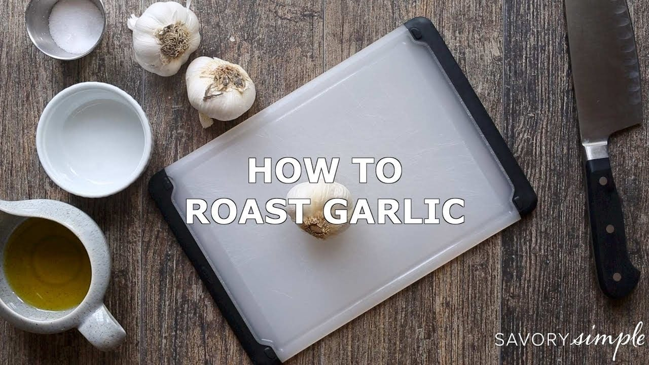 A short video demonstrating how to roast garlic in the oven.