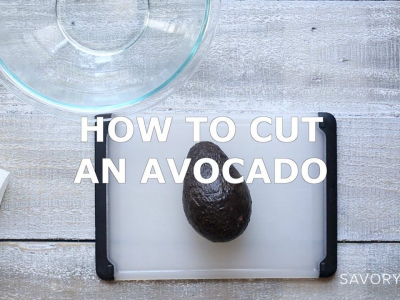 A short video demonstrating how to cut an avocado.