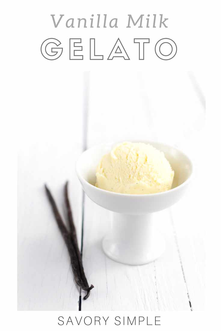 Vanilla Milk Gelato is creamy, dense, and packed with vanilla flavor. It's the perfect sweet treat for ice cream lovers!