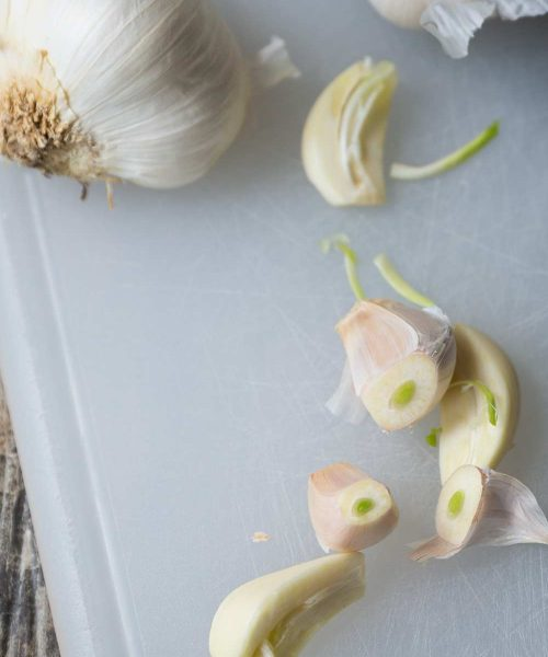 What does it mean when garlic sprouts? Get the run down on Savory Simple.