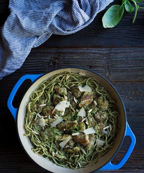 Savory-Simple-Recipe-Chicken-Pesto-Pasta