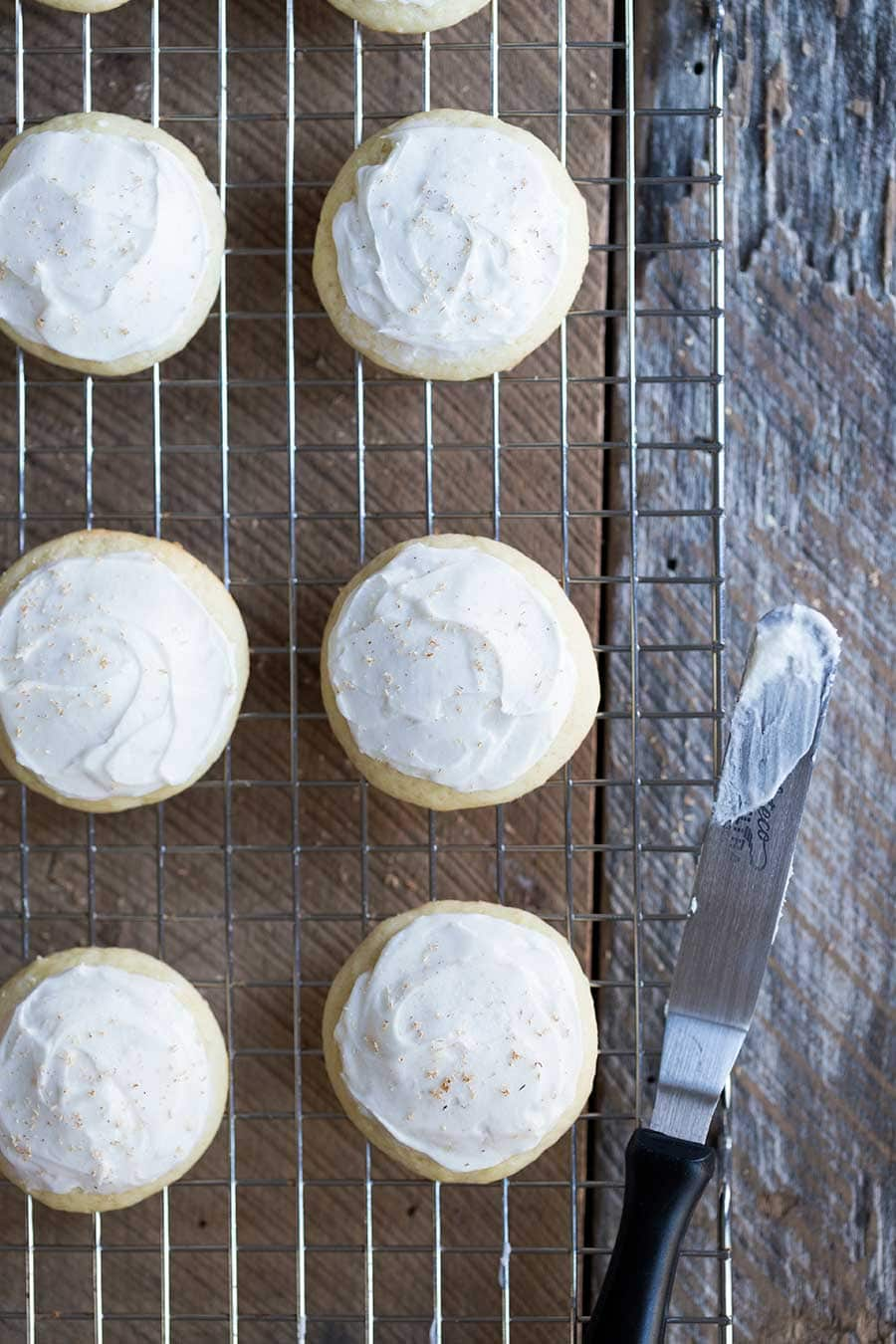 This frosted eggnog cookie recipe is everything you need for your next holiday party, with a cake-like texture, and a delicate eggnog cookie icing that isn't overly sweet.