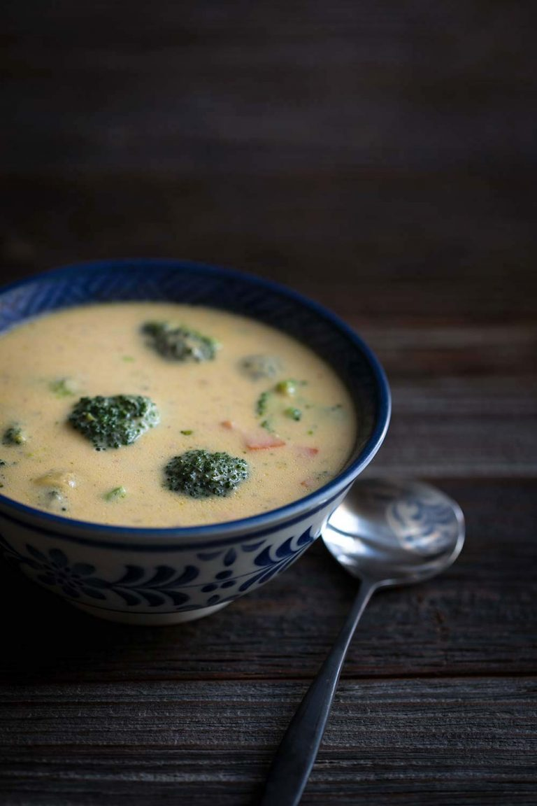 This Restaurant-Style Broccoli Cheese soup reminds me of the version from Panera Bread, but so much better! The texture is silkier, and the cheddar flavor shines.