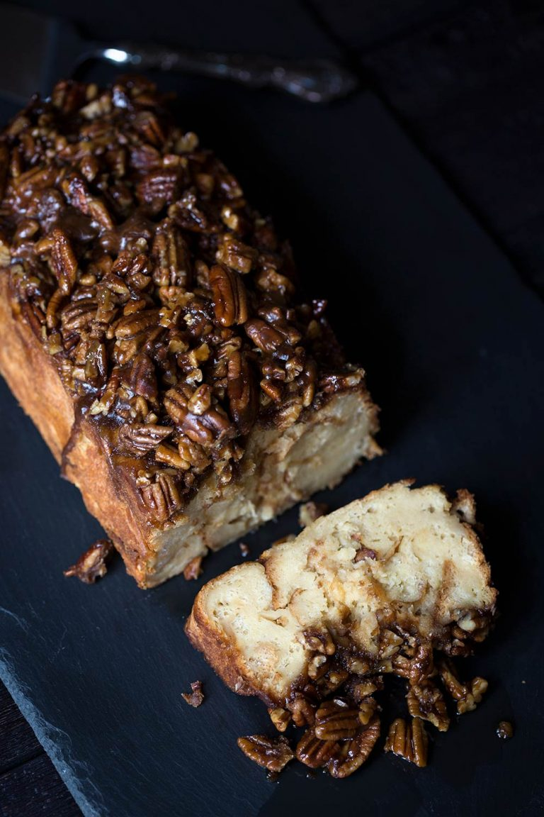 This Pecan Pie French Toast Bake is perfect for holiday breakfast and brunch gatherings! Almost all the prep work can be done in advance!