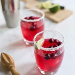 This Cranberry Margarita is a perfect Christmas cocktail!