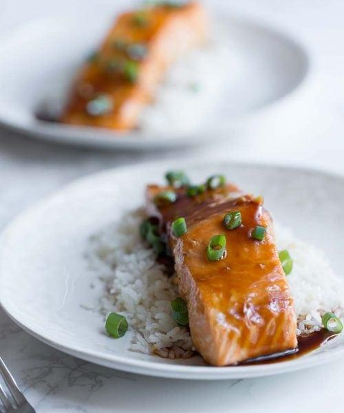 This baked teriyaki salmon is incredibly easy!