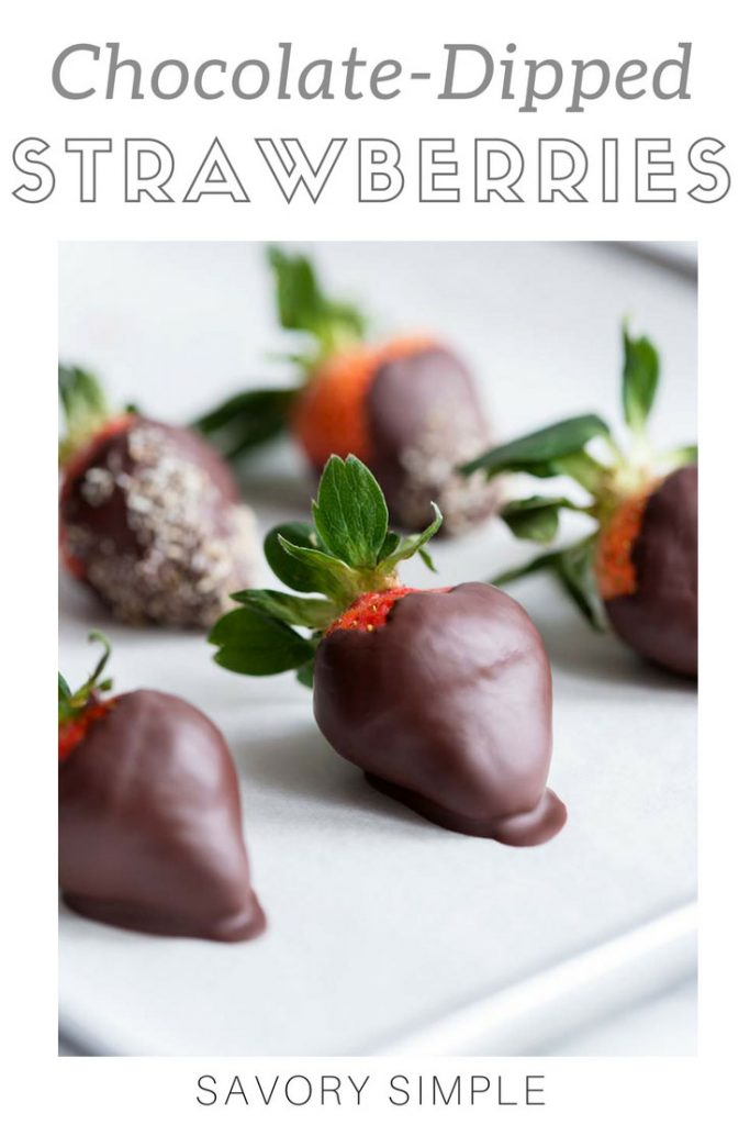 Chocolate covered strawberries with text overlay.