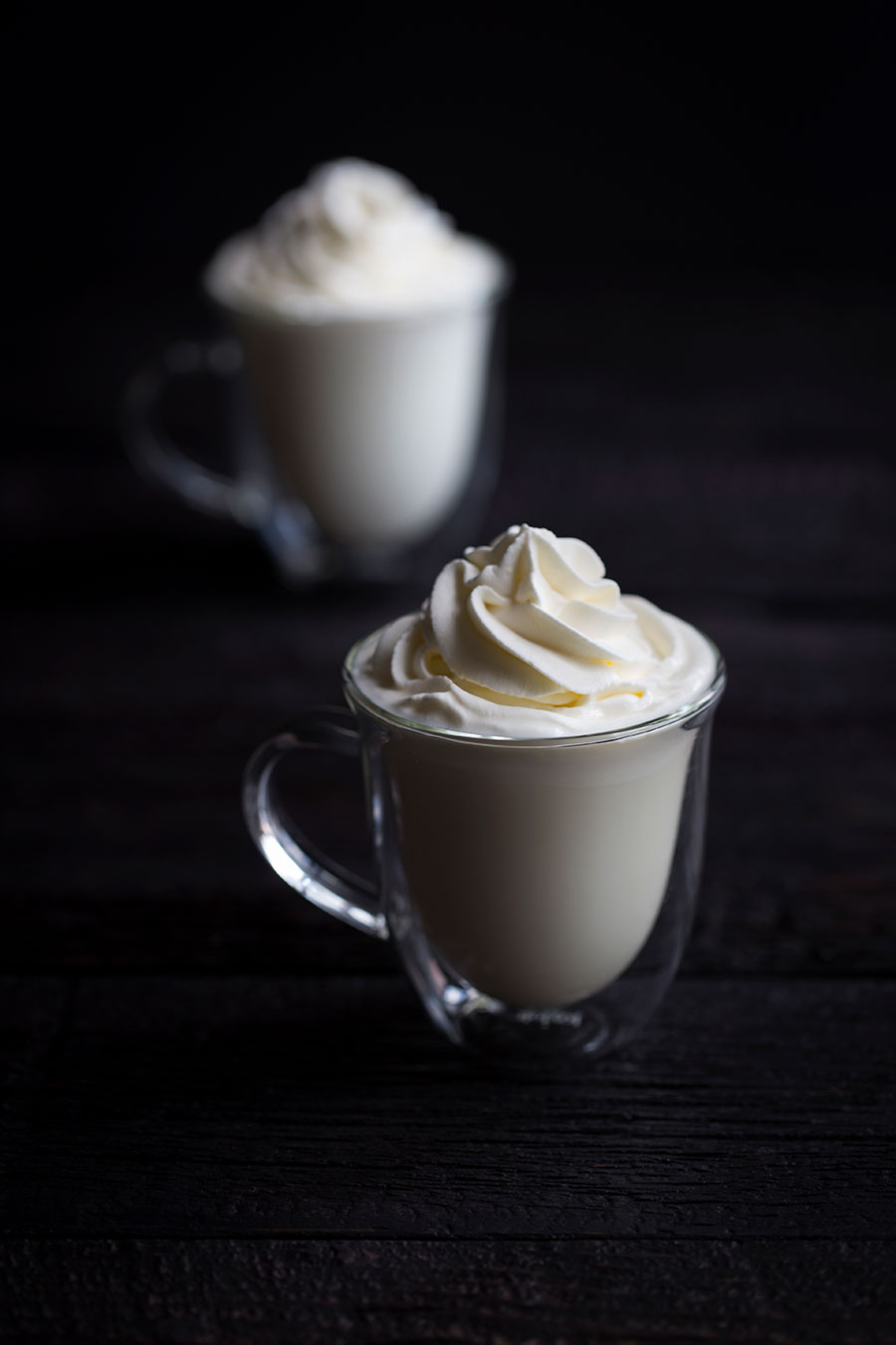This white hot chocolate comes together in minutes and is absolutely decadent! For an extra treat, try adding a splash of liqueur such as Kahlua, Rumchata, or Baileys!