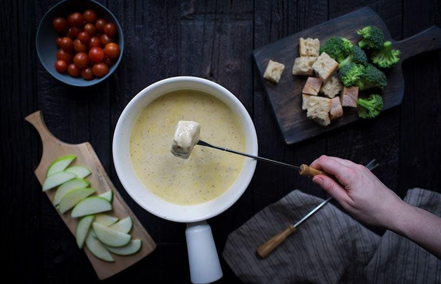 An assortment of fondue dippers.