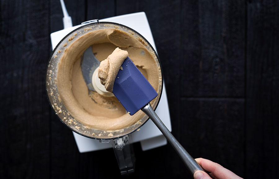 A photo of homemade cashew butter, still warm!