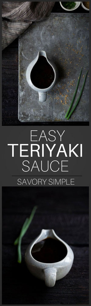 This homemade teriyaki sauce is both sweet and savory, and it comes together in no time! It's perfect for marinating as well as serving alongside chicken, beef, seafood, tofu, and assorted vegetables.
