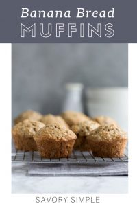 Banana Bread Muffins Collage