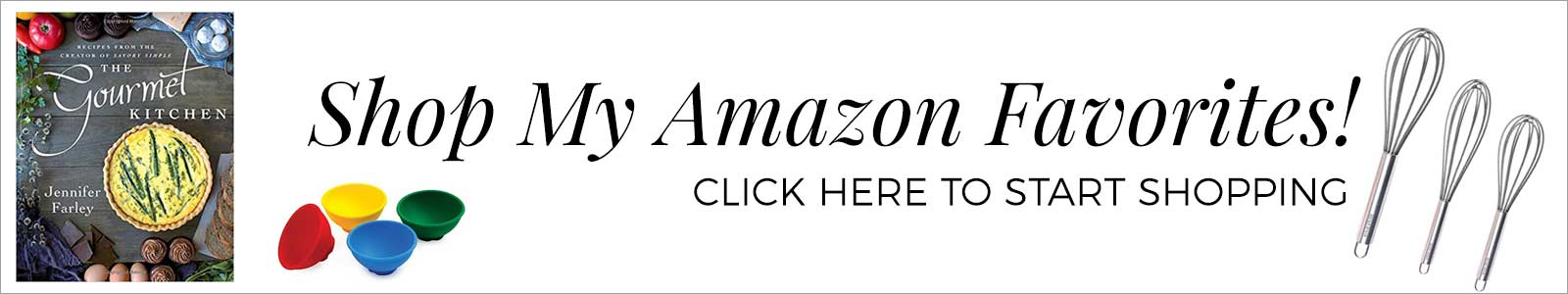Shop The Savory Simple Amazon Store - Banner