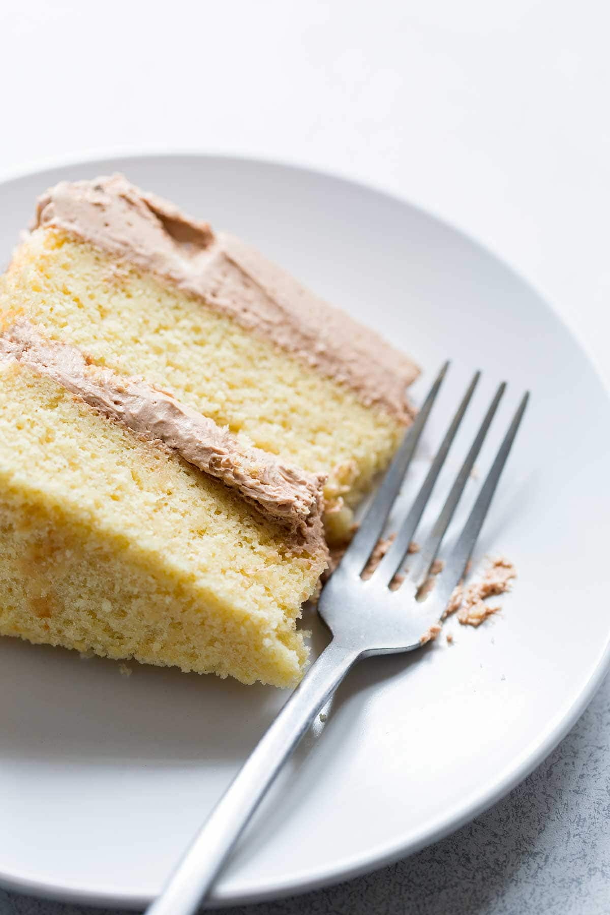 You don't need to buy boxed cake mix! This yellow cake recipe is