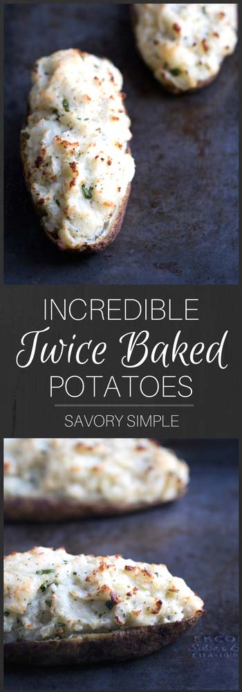 Twice-baked potatoes are one of my favorite dinner side dishes. Packed with sour cream, butter, green onion, and herbs, this twice-baked potato recipe will soon become your new favorite side dish as well!