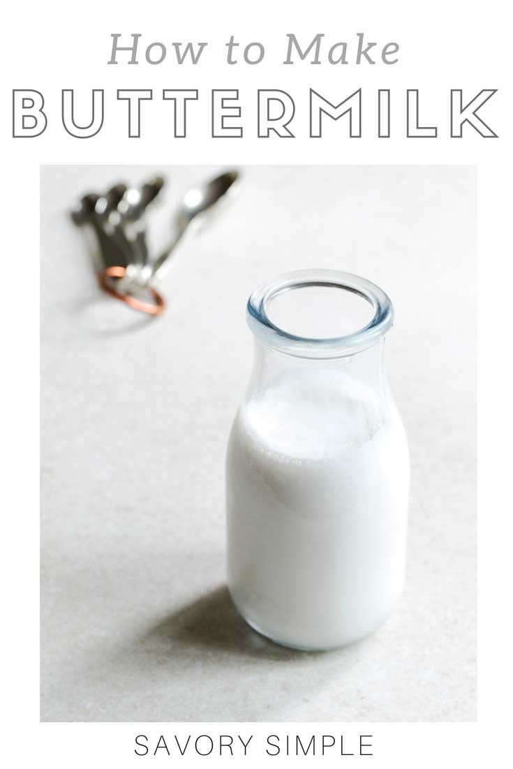 Learn how to make buttermilk substitute at home with this quick tutorial! Homemade buttermilk can easily be used in place of the commercial versions in baked goods.