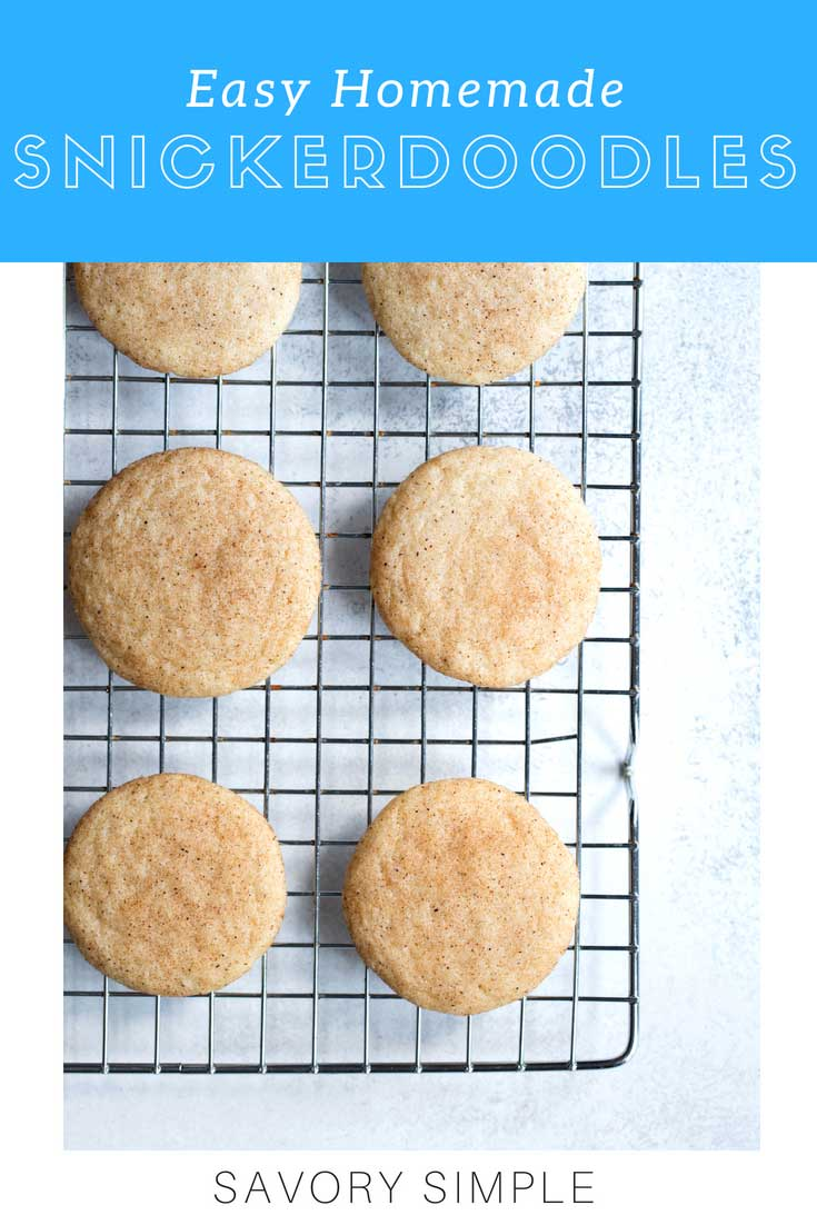 Buttery Snickerdoodle Cookies are an amazing dessert all year long! This snickerdoodle recipe has no shortening or cream of tartar, and can be made either soft or crunchy, depending on your preference. If you love snickerdoodles, you'll love this recipe!