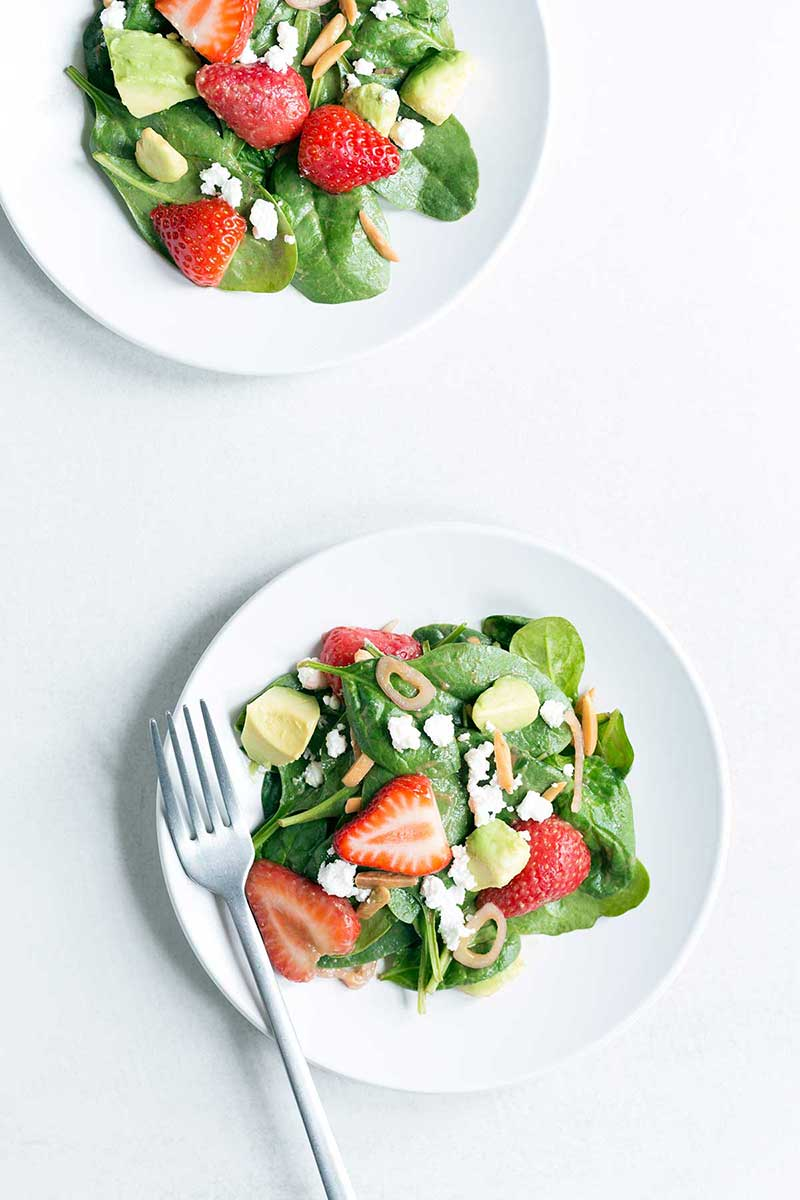 A photo of spinach salad.