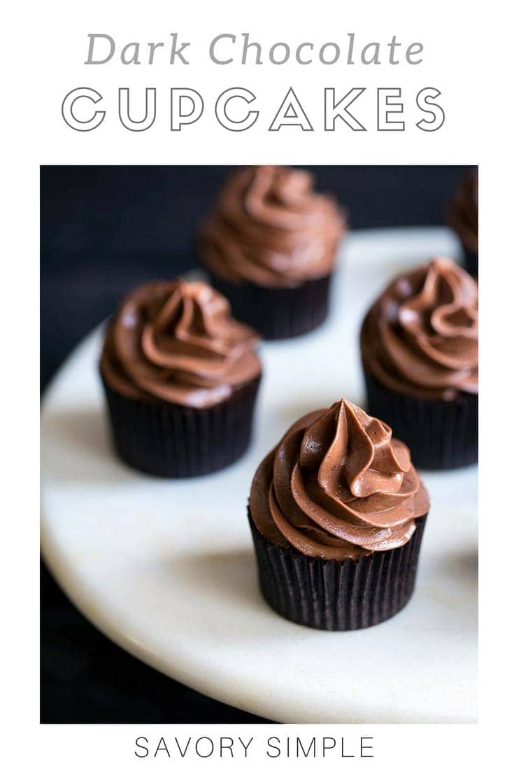These moist chocolate cupcakes are decadent and rich without being too sweet. Chocolate meringue buttercream keeps them light, making these cupcakes a wonderful option for Valentine's Day, or for any special occasion!