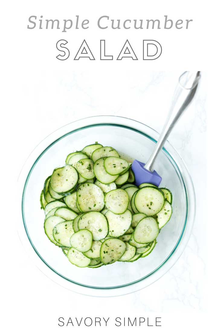 Cucumber salad is a light summer side dish that comes together in no time. With just a few simple ingredients, you've got a healthy, refreshing accompaniment to a variety of main courses.