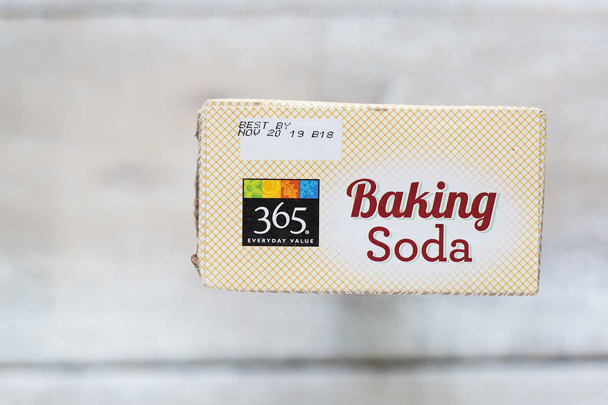 The expiration date on a box of baking soda