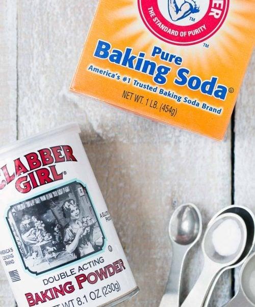 Baking soda versus baking powder