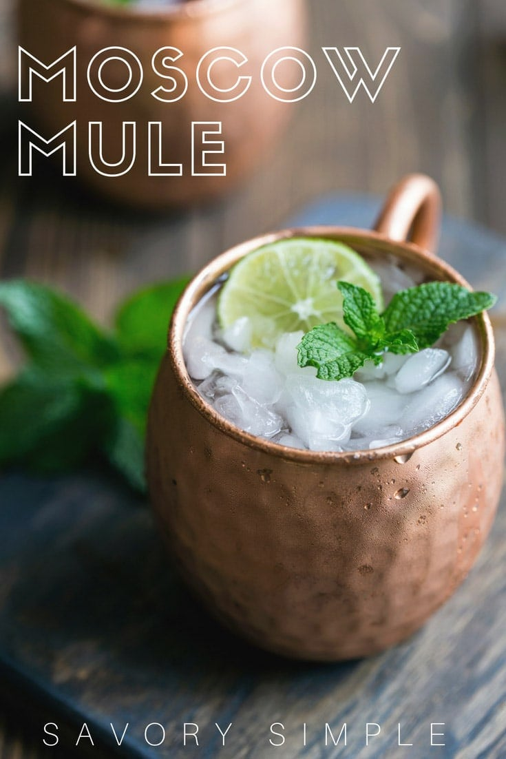 Easy Moscow Mule cocktail