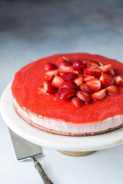 Strawberry No-Bake Cheesecake Recipe Photo