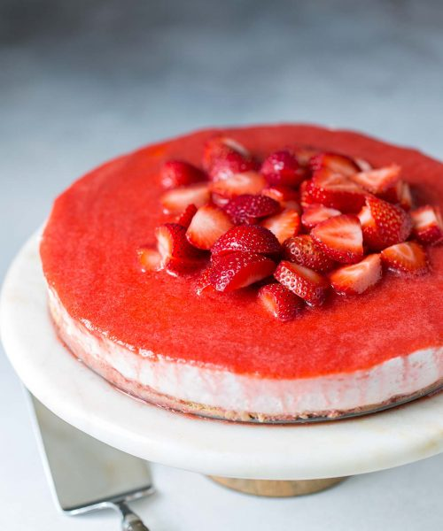 Strawberry No-Bake Cheesecake Recipe Photo