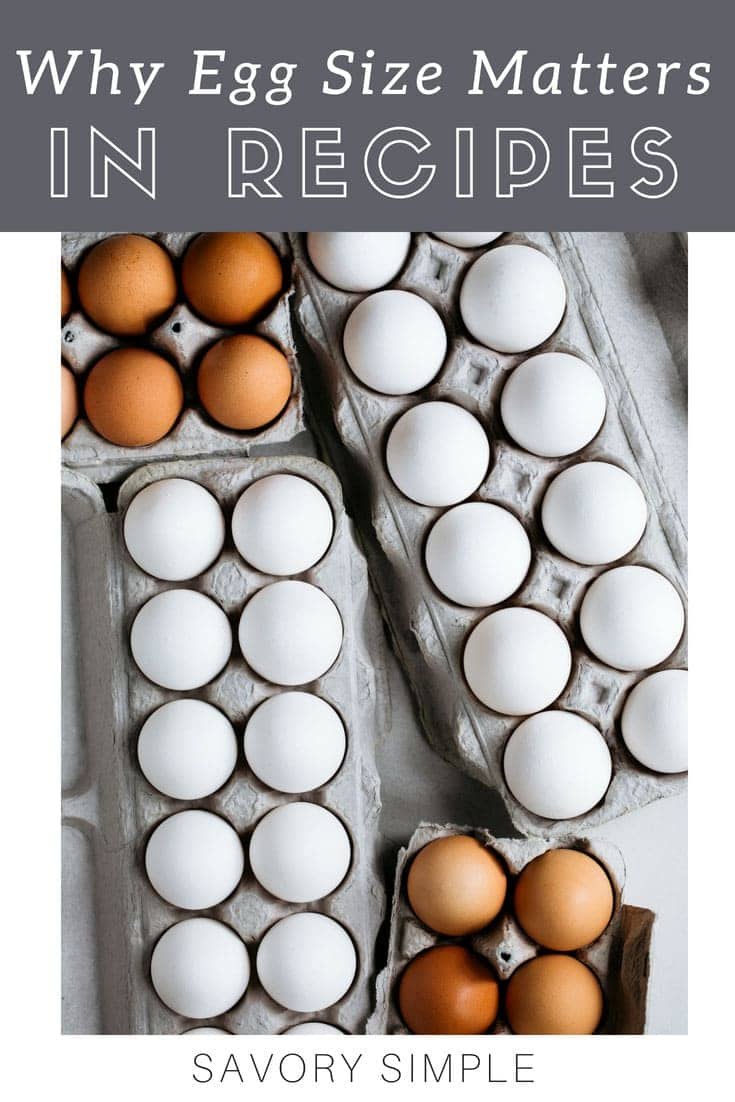 Does egg size matter in recipes? What happens if you use extra-large eggs instead of large eggs in a cake? Is it really that important? Let's find out! #baking #eggs #baking tips #savorysimple