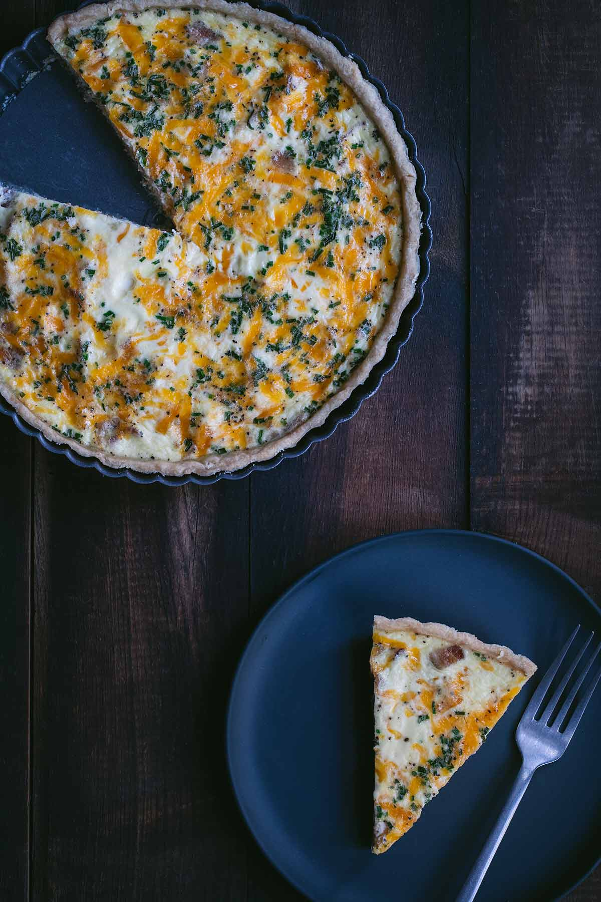 Bacon, egg and cheese quiche recipe