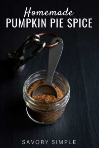 Homemade pumpkin pie spice with text overlay