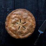 apple pie overhead photo