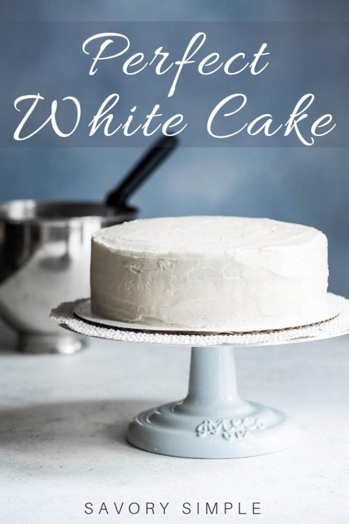 white cake with text overlay