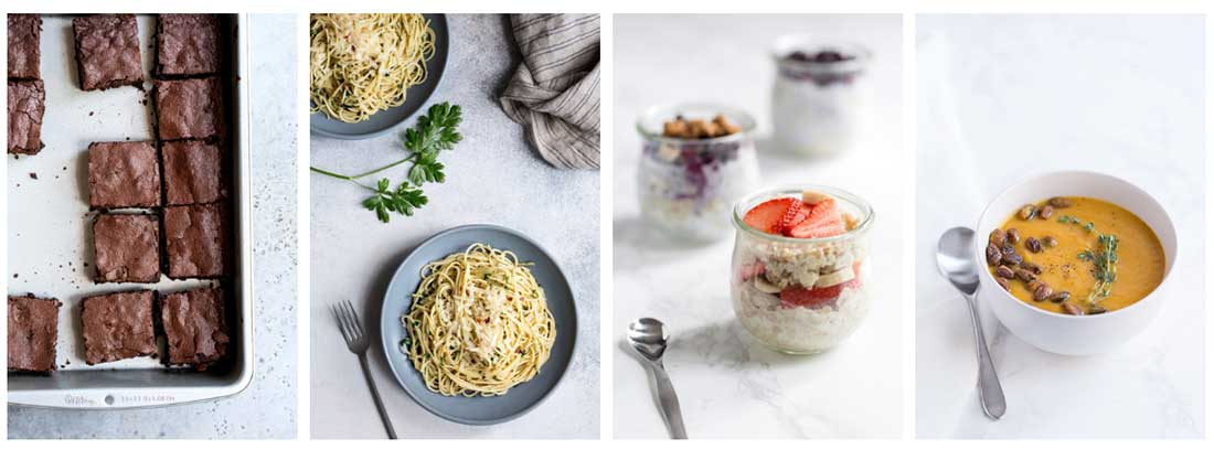 Four photos from Savory Simple