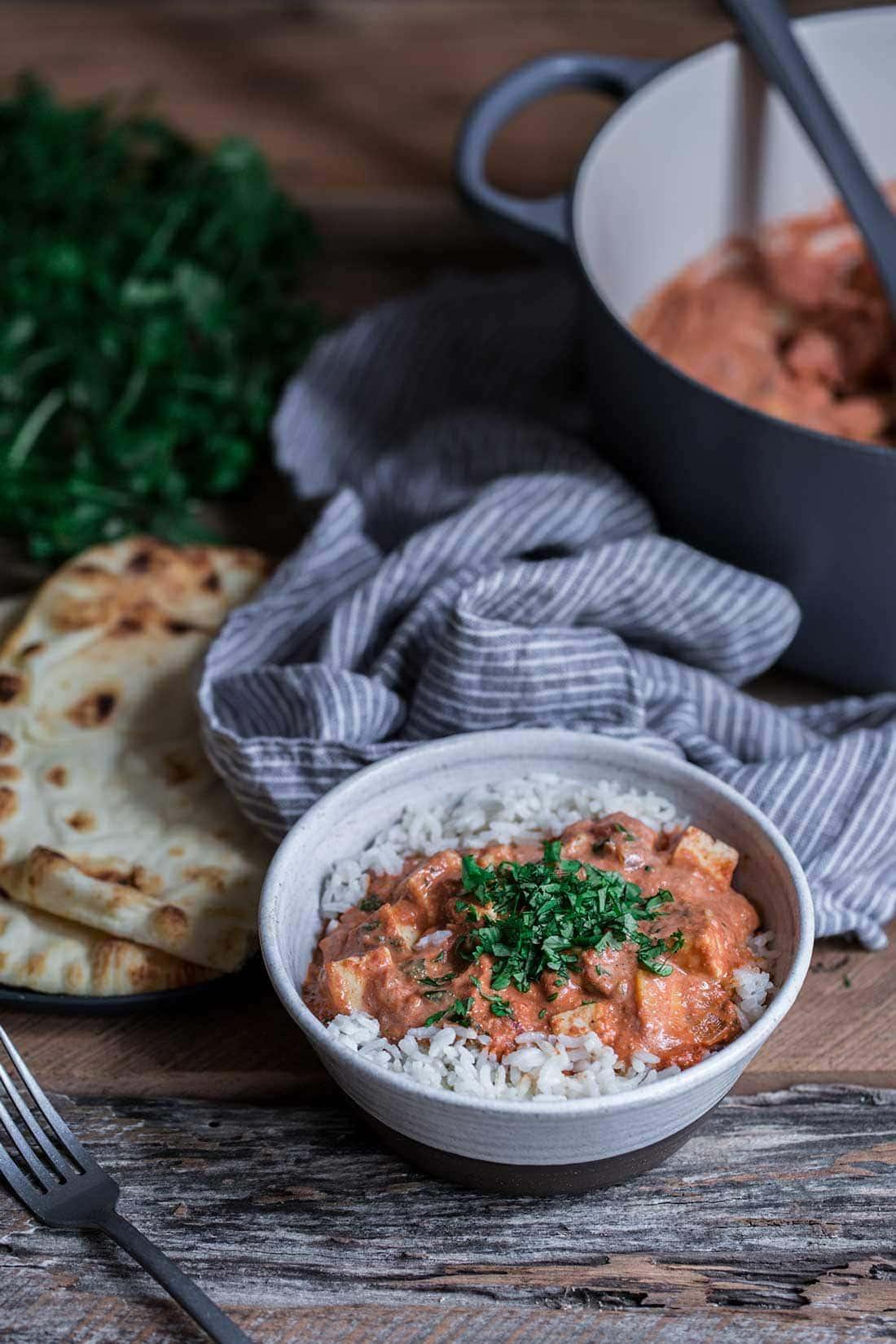 Paneer tikka masala recipe in a bowl