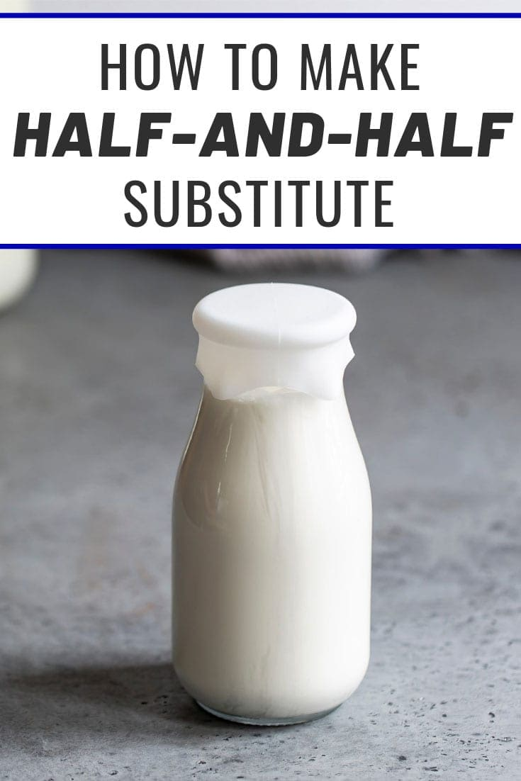 Half-and-half substitute in a bottle