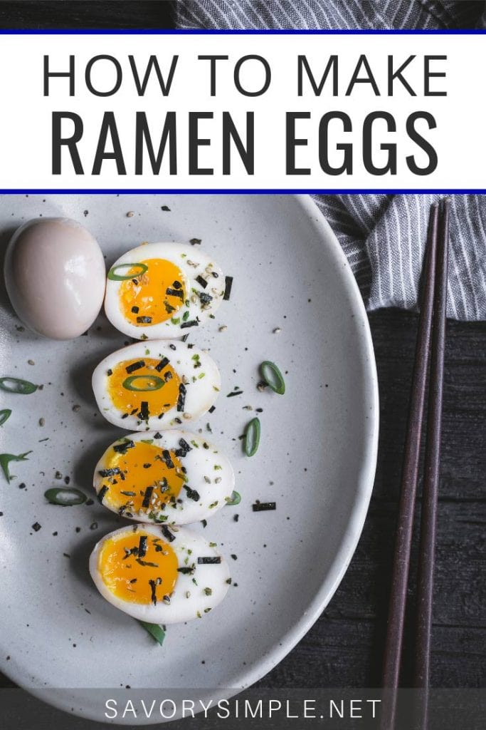 Learn how to make Ramen Eggs at home with this quick and easy recipe! Use ramen eggs in soup, or serve over rice for a healthy, tasty meal.
