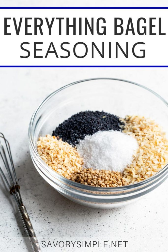 How to Make Everything Bagel Seasoning - This everything bagel spice blend is amazing sprinkled on plain bagels, with eggs, and on avocado toast! It comes together in no time.