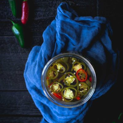 Pickled Jalapeños Recipe in a mason jar