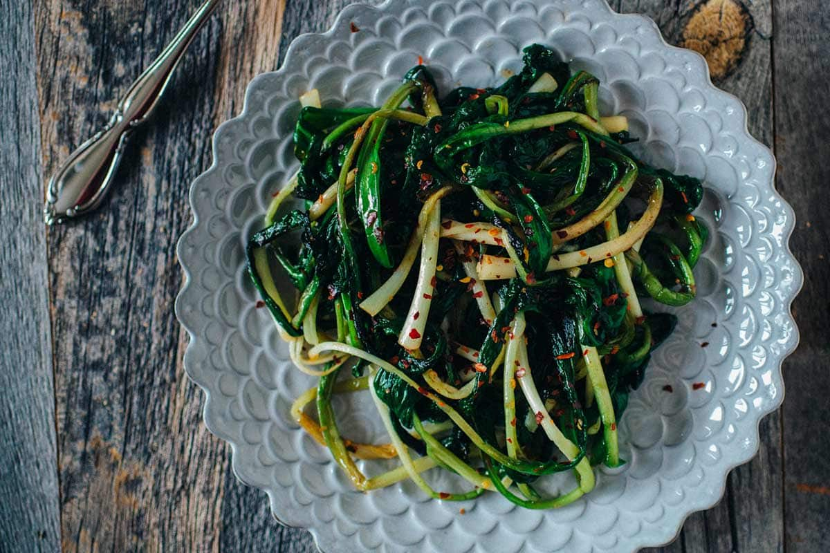 Caramelized ramps from Crepes of Wrath