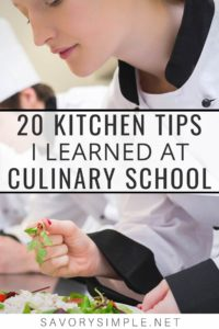 20 Culinary School Kitchen Tips Collage