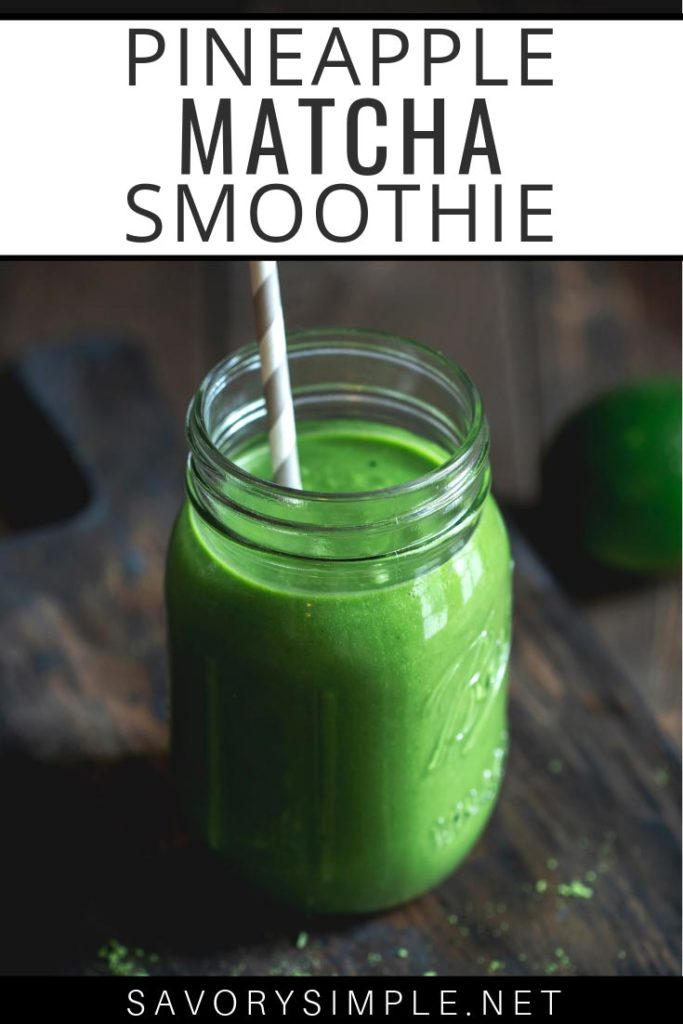 Who needs coffee? Get your caffeine and breakfast at one time in this healthy, flavorful pineapple matcha smoothie recipe.
