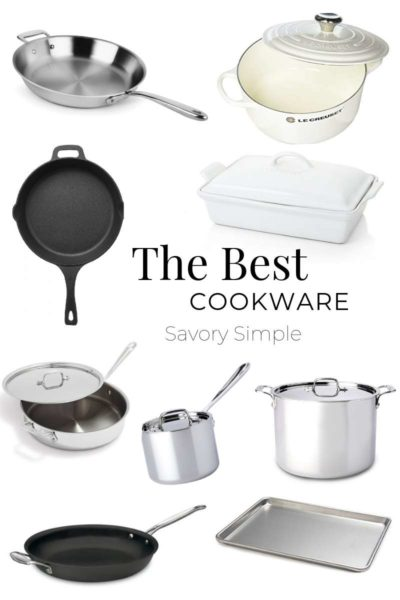 a collage of the best cookware