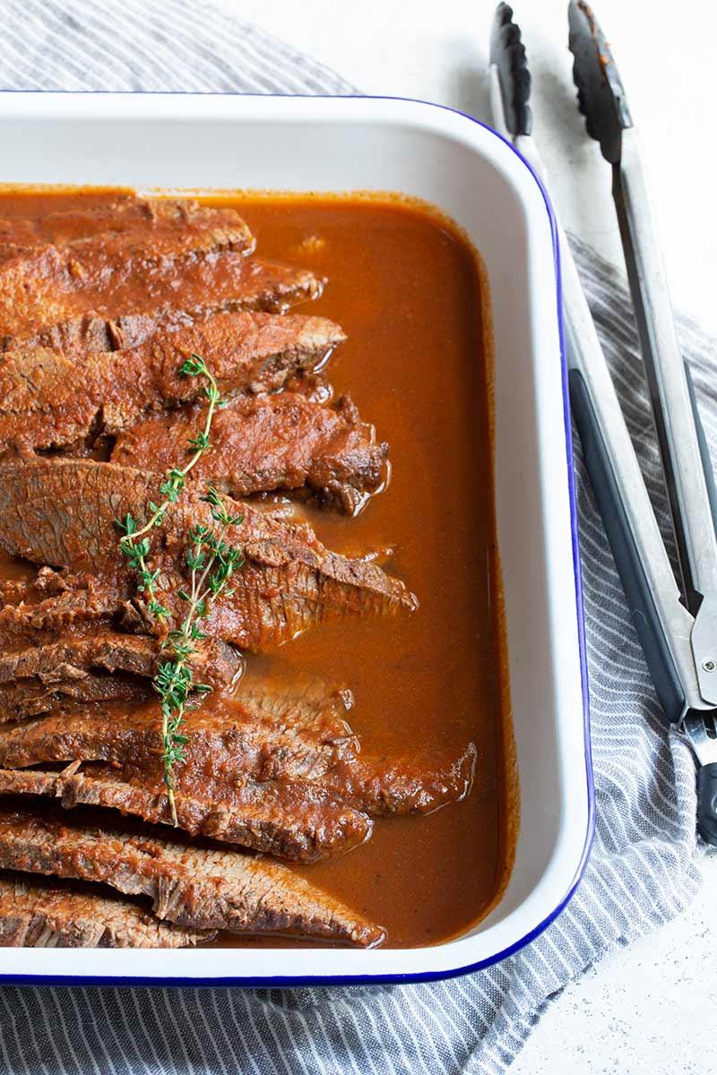 Braised Beef Brisket Recipe Step By Step Photos Savory Simple